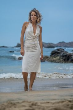 NEW! LONG SWEETDRESS, Boho Dress, Sexy Dress, Versatile Woman Dress, Below Knee Dress, Beach, Wedding, White Dress, Elvish by TornaSolDesign on Etsy