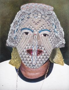 The works in Disguise: Masks and Global African Art are organized around the idea that masquerade is always an art of becoming. Paul Anthony Smith scanned an image of a Kuba mask depicting a central woman in Kuba history over a photograph of his..http://brooklynmuseum.tumblr.com/.