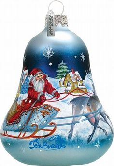 Santa Sleigh Bell Ornament * Read more reviews of the product by visiting the link on the image.