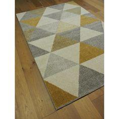 tapis triangles scandinaves gris et bleu canvas tapis. Black Bedroom Furniture Sets. Home Design Ideas