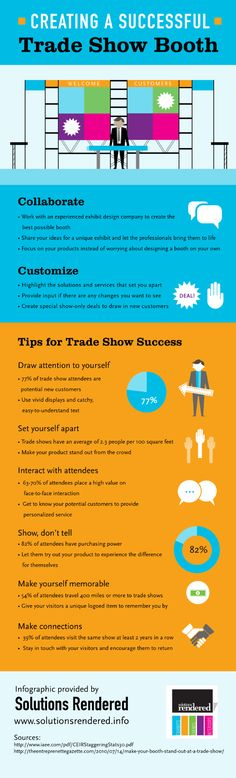 Create a Succesful Trade Show Booth #Infographic #SMM #Marketing