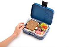 Amazon.com: WonderEsque Bento Lunch Box - LeakProof Lunch Container - For Kids and Adults (DARK BLUE): Kitchen & Dining