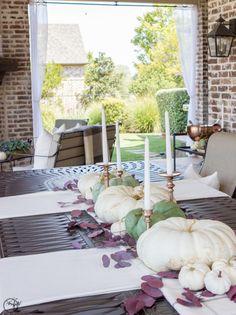 Fall Home Tour, blogger home tour, fall tablescape, fall porch, outdoor living, outdoor patio, fall party, fall wedding