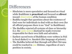 compare and contrast hinduism and buddhism essay