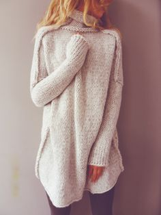 Cozy style for the win. Pair with brown boots and a felt hat.