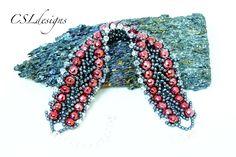 Double row flat spiral beaded bracelet ~ Seed Bead Tutorials