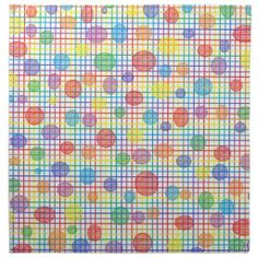 Rainbow Weave and Polka Dots Cloth Napkins Napkin by natureby_lornakay