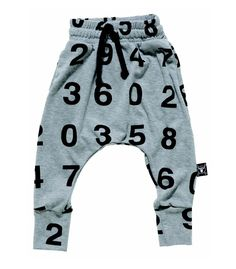NuNuNu Grey Baggy Trousers With Numbers | Scandinavian Minimall