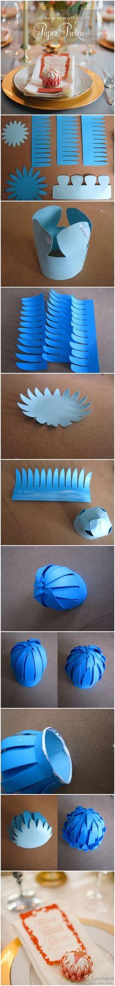 DIY Paper Protea