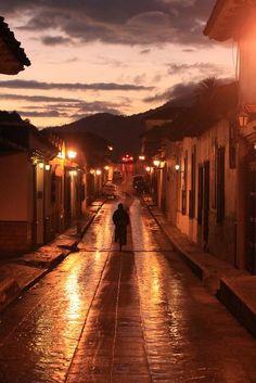 Amaneciendo en San Cristobal; Chiapas