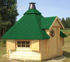 Grillkota inkl. Grillanlage Pavillon Gartenhaus Grillhütte Kota Grillhaus Holz