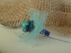 Martinuska / jemný modrý prstienok z organzy