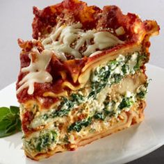 Slow Cooker Spinach Lasagna - tried it with cottage cheese instead of ricotta and messed up some of the directions but it was still delicious, so it is basically no-fail! Served 8 BIG servings