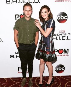 awkward school photo. Nailed it. || Iain De Caestecker, Elizabeth Henstridge || AOS Season 3 Premiere || 736x736 || #cast #fitzsimmons