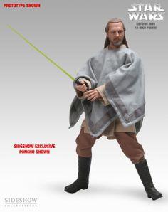 Sixth Scale Figure - Qui-Gon Jinn (Sideshow Exclusive - Moisture Farmer Poncho) #21051