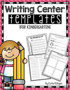 "Writing Center Activities for Kindergarten - Develop your students' love for real-world writing with these fun writing center templates! They're perfect for writing centers, or you could use them for guided writing or whole-group writing activities. They could even work as ""fast-finisher"" activities. The possibilities are endless! I included lines on the templates to help your young writers. Click through to start using these with your kinders today!"