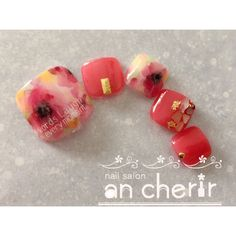 春/夏/フット/フラワー/たらしこみ - ancherirのネイルデザイン[No.2932761]|ネイルブック Pretty Toe Nails, Love Nails, Cute Pedicures, Nail Salon Design, Feet Nails, Nail Patterns, Toe Nail Designs, Classy Nails, Bridal Nails