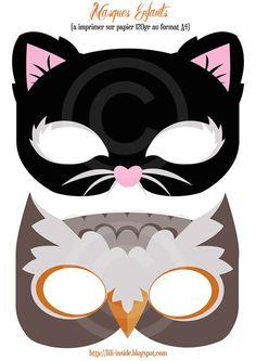 Printable Halloween Masks Crafts 2013 Decorations