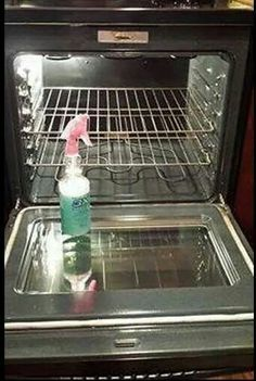 Oven cleaner - 2 oz dawn dishwahing detergent, 4 oz lemon juice, 8 oz white vinegar, 10 oz water. Leave on overnight. May be also used as a general cleaner