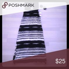 Selling this Black and white striped maxi skirt on Poshmark! My username is: dsacco2. #shopmycloset #poshmark #fashion #shopping #style #forsale #Jessica Simpson #Dresses & Skirts