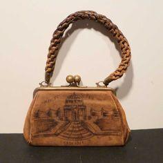 1904 St Louis World's Fair Leather Purse