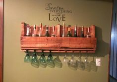 Wine rack out of pallet