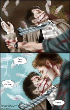 Supernatural S10.22 fanfic:Last scene Destiel.ver by noji1203.deviantart.com on @DeviantArt
