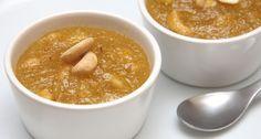 Indiai búzadara puding recept (Rava Kesari) Mulligatawny, Cheeseburger Chowder, Cantaloupe, Peanut Butter, Fruit, Puding, Recipes, Food, Recipies