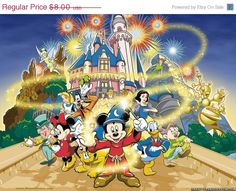 "ON SALE Counted Cross Stitch Patterns -  Disney magic - 35.43"" x 26.57"" - L079"