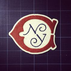 I love this patch. Design Crafts, Diy Design, Design Ideas, New York In December, College Letters, Branding, Letter A Crafts, Typography, Lettering
