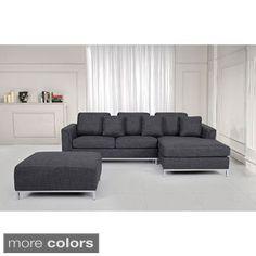 OSLO by Beliani Modern Fabric Upholstered Sectional Sofa