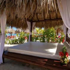 Our cabana at Mr Sanchos Beach Club, Cozumel, Mexico...I will be here 12/22/12