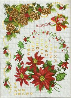 ru / Photo # 164 - 2014 b - ergoxeiro Xmas Cross Stitch, Cross Stitch Cards, Cross Stitch Borders, Cross Stitch Alphabet, Cross Stitch Kits, Cross Stitching, Cross Stitch Embroidery, Cross Stitch Patterns, Stitch Book