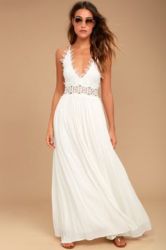 c2cb33c537b66 Lulus | This is Love White Lace Maxi Dress | Size X-Small | 100% Polyester