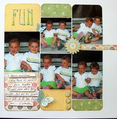 Ideas for Scrapbookers: Reader's Pages.  Cute layout.