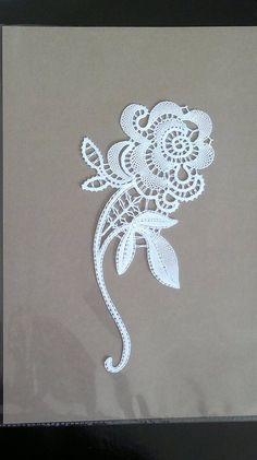 Idrija part lace. I think the leaves in particular, required added threads. So it isn't a pure tape lace. Mateja Povirk