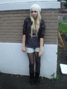 H&M Pleather Jaket, Sksk Scary Kids Scaring Kids Band T, Roxy Short Shorts, Black Ugg Boots