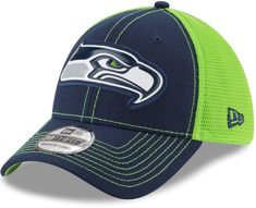 New Era Adult Seattle Seahawks 39THIRTY Fan Mesh Flex-Fit Cap ff619fcb0