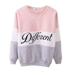 #Cute Hoodies Sweater Pullover Letters Diffferent Printed Mix Color XX-Large Pink