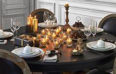 Une table de Noël chic avec Maisonsdumonde http://www.homelisty.com/table-de-noel/