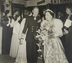 This photograph shows King George VI and Queen Elizabeth (with Princess Elizabeth and Princess Margaret behind them) at the first Royal Film Performance, shown at the Empire Theatre, Leicester Square, London, in November 1946. The film shown was A Matter of Life and Death, written, produced and directed by Michael Powell and Emeric Pressburger, and starring David Niven, Roger Livesey and Raymond Massey.© Supplied by Royal Archives/© HM Queen Elizabeth II 2013