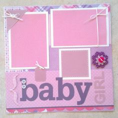 baby girl scrapbook layouts | Baby Girl premade scrapbook layout page by ohioscrapper on Etsy, $15 ...