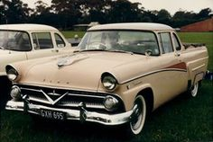 1958 Ford Mailine Ute (Australia) While the US version got wider and longer, the Australian version retained the '55/'56 design. The grill work and trim matched the '55 Canadian Meteor.