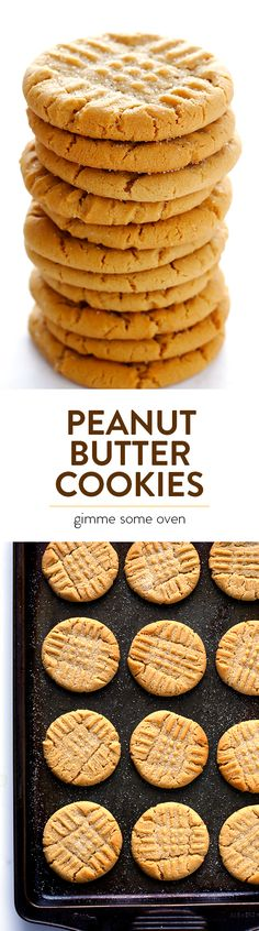 My all-time favorite recipe for soft and chewy peanut butter cookies.  A classic! | gimmesomeoven.com