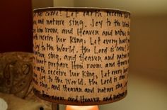 Handwritten lamp shade. by sharon.smi