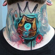 80 Graffiti Tattoos For Men - Inked Street Art Designs Men's Side Neck Tattoos, Tribal Neck Tattoos, Best Neck Tattoos, Neck Tattoo For Guys, Tattoos For Guys, Geometric Tattoos, Sleeve Tattoos, Best Graffiti, Street Art Graffiti