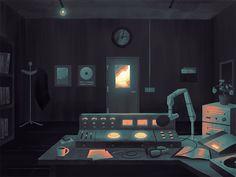 Radio Station by Matthew Morrison #Design Popular #Dribbble #shots