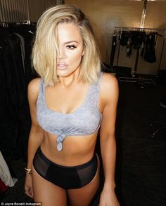 Khloe Kardashian's makeup artists post sexy underwear shot of the star to remind everyone that her beauty needs no filter | Daily Mail Online