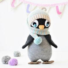 Pompom hat penguin amigurumi pattern by lilleliis