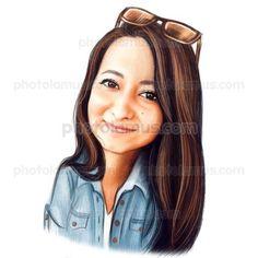 Beauty Caricature by Photolamus
